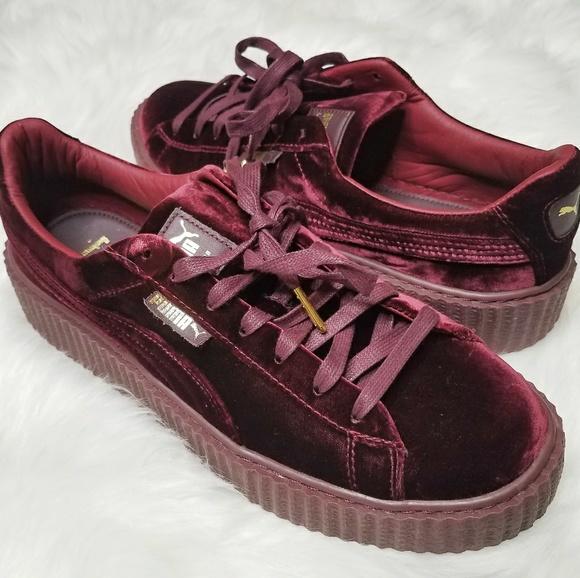 best sneakers 17246 1a4e9 HP Puma Fenty Rihanna Velvet Platform Creeper Shoe NWT